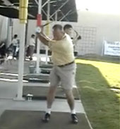 Gary S at golf swing speed training